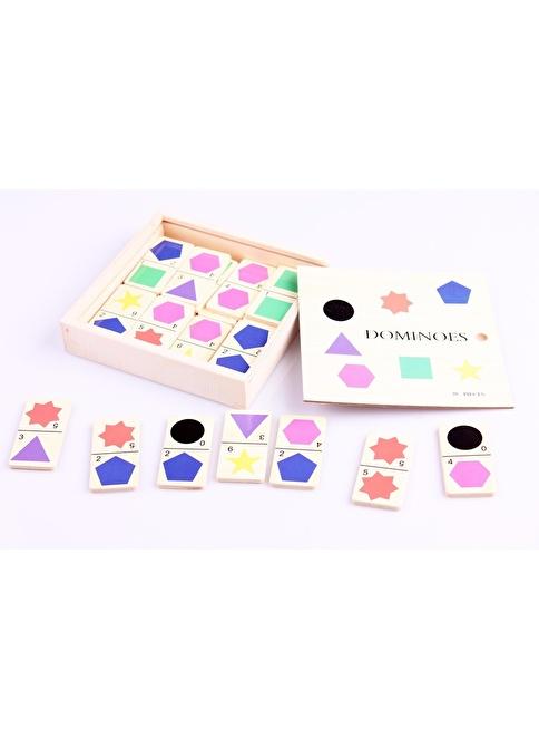 Learning Toys Ahşap Domino Seti Renkli